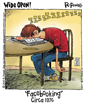 Facebooking in the old days