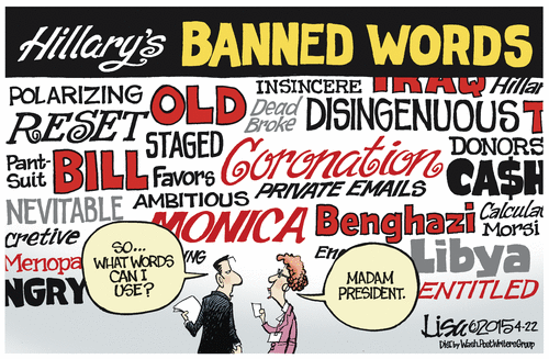 HIllary's banned words