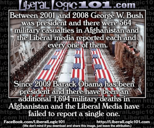 Media silent about military casualties under Obama