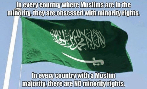 Muslims demand but never grant minority rights