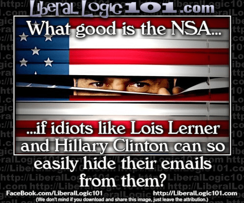NSA didn't stop Clinton and Lois Lerner