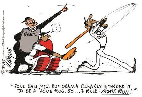 Obama's foul ball