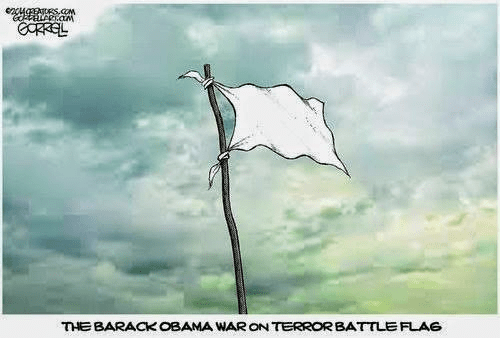 Obama's war on terror flag