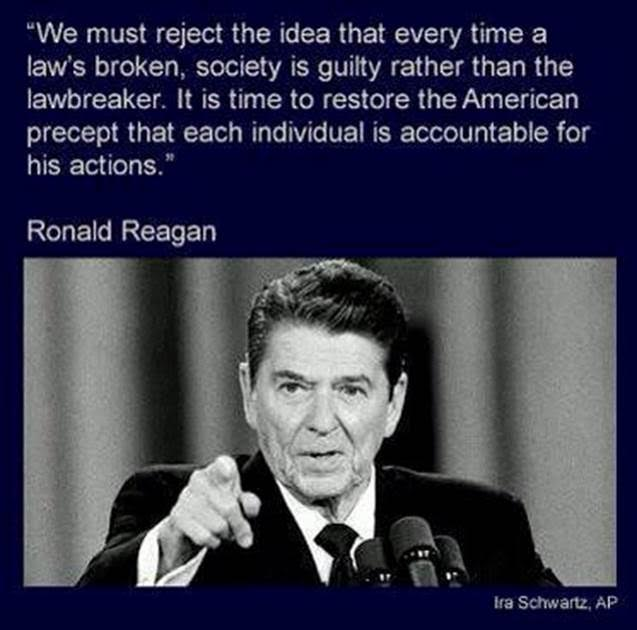 Ronald Reagan on individual accountability