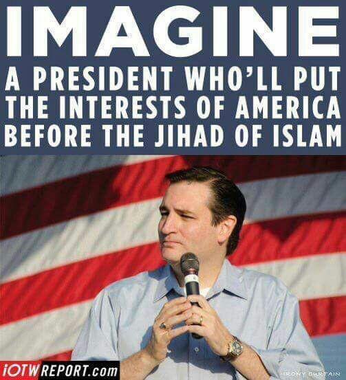 Cruz puts America before Islam