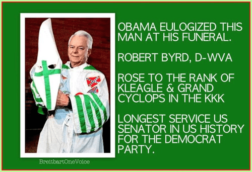 Robert Byrd KKK Democrat