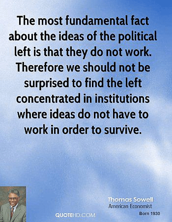 Sowell Leftist ideas do not work