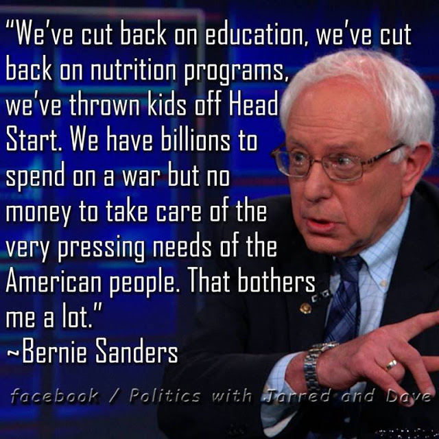Bernie Sanders on social funding and war
