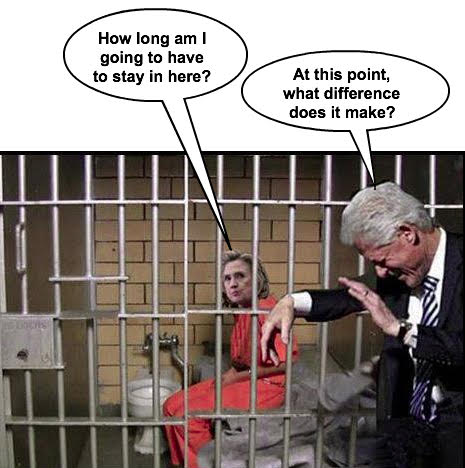 Hillary in Jail Bill laughing