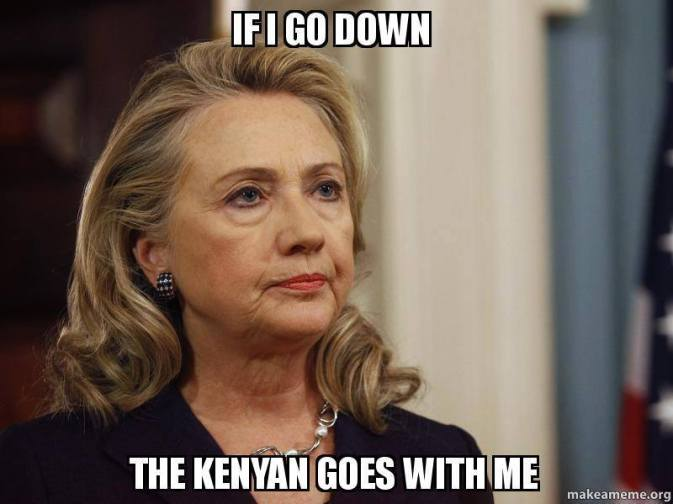 Hillary the Kenyan goes with me