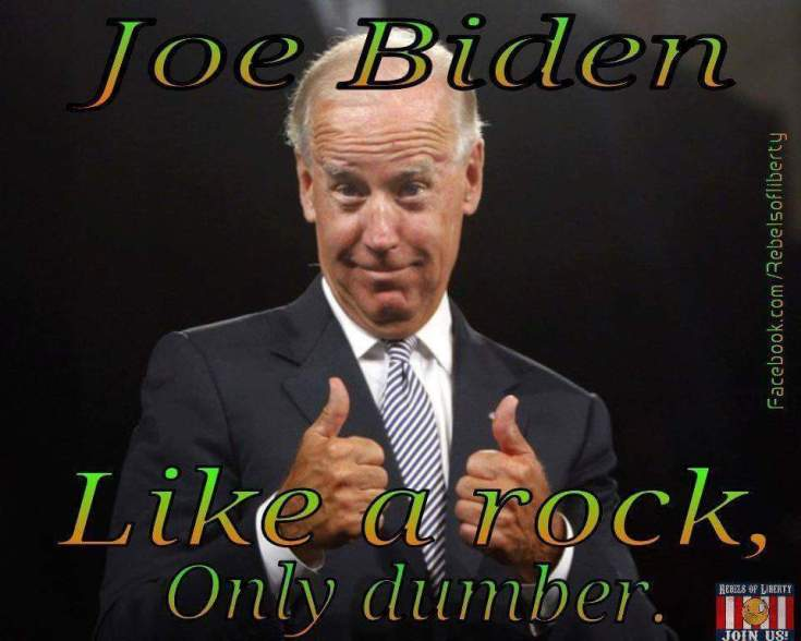 Joe Biden dumb as a rock