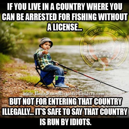License for fishing but not getting into country