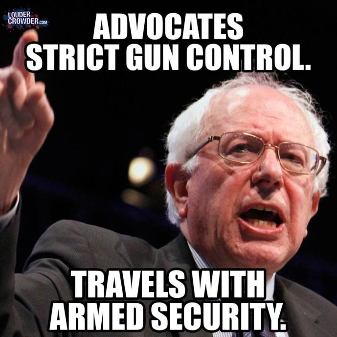 Bernie Sanders gun control hypocrite