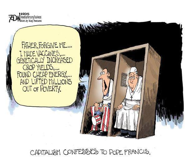 Capitalism's confessions to pope