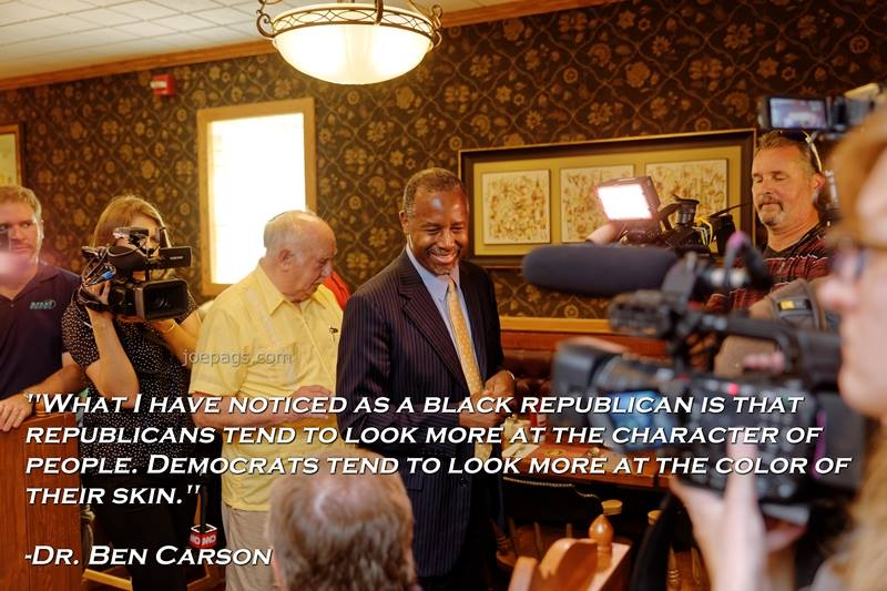 Carson - conservatives care about content of character