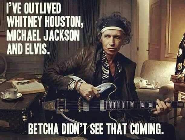 Keith Richards outlives them all
