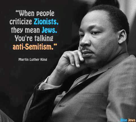 Martin Luther King on antisemites and anti-zionists