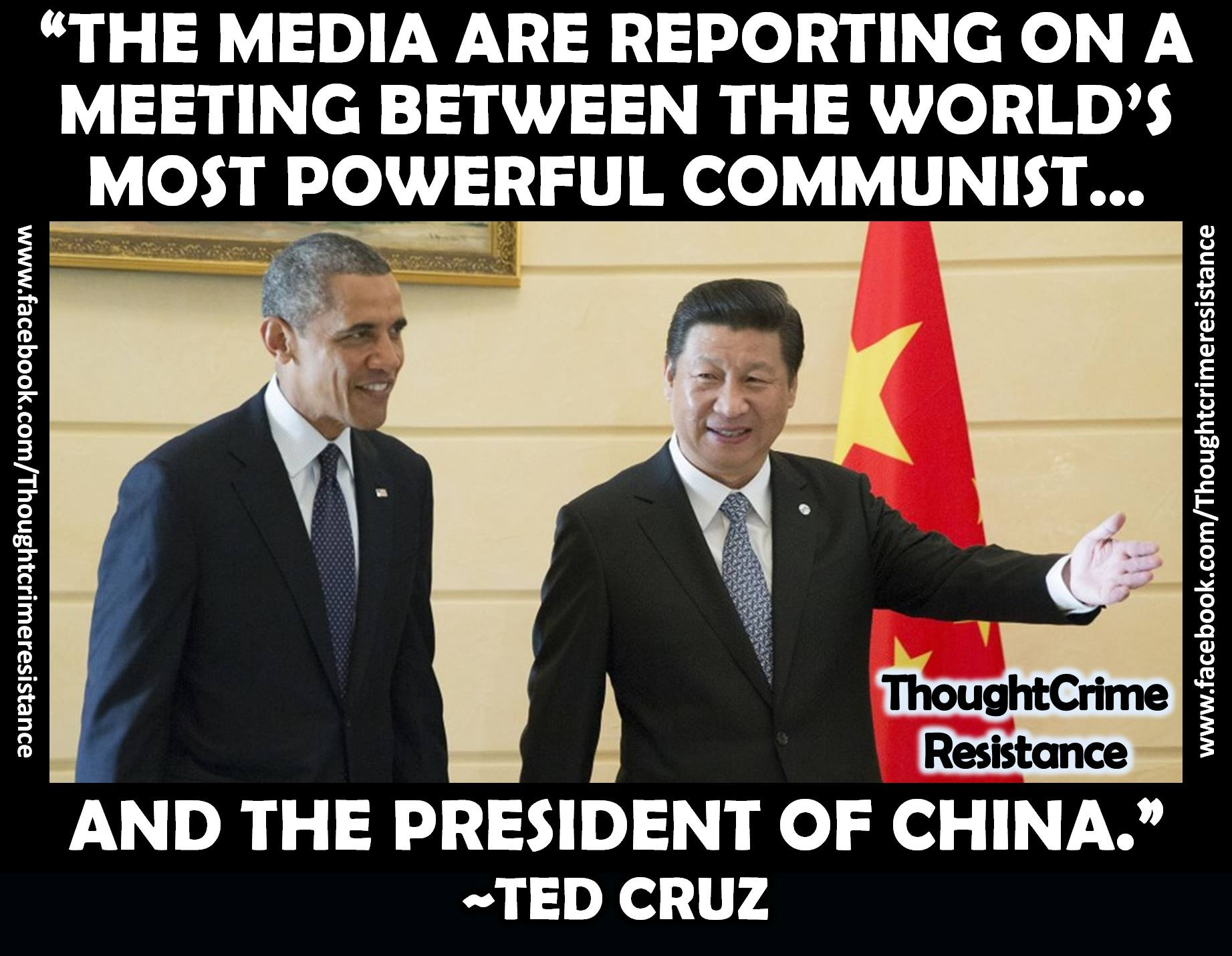 Ted Cruz on Obama and Chinese president