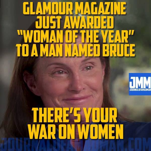 Glamour Bruce Jenner war on women