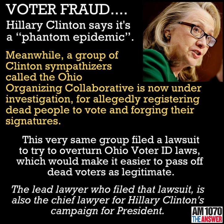 Hillary and voter fraud