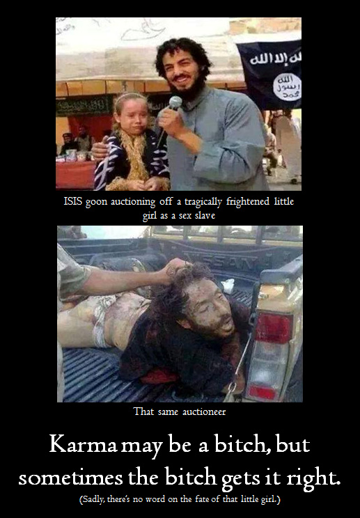 ISIS slave auction karma