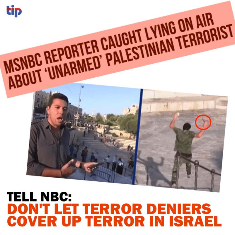 MSNBC lies about Palestinians