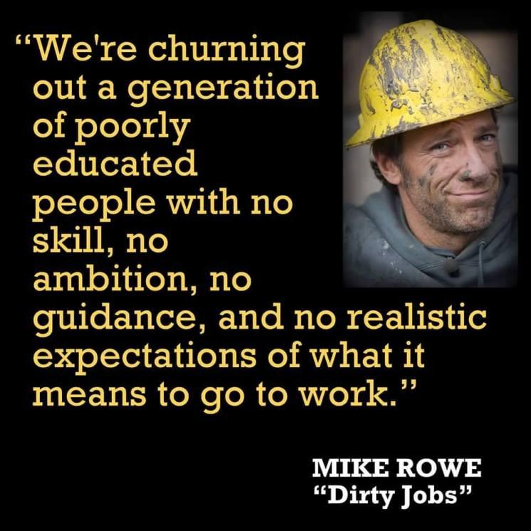 Mike Rowe on useless generation
