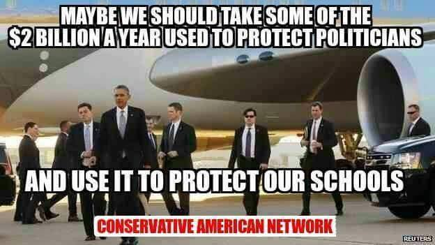 Money for protecting politicians used for schools