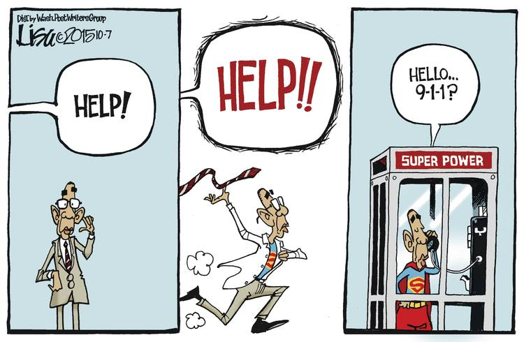 Obama helps out