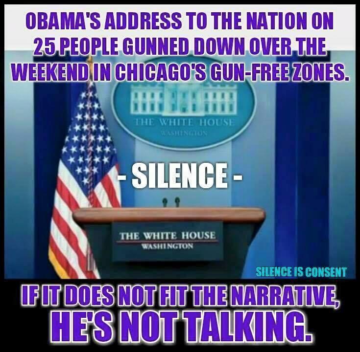 Obama silent about ghetto gun use