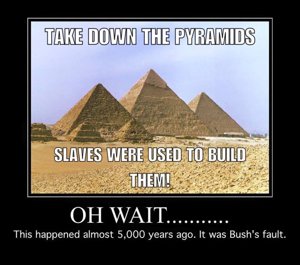 Pyramids slaves