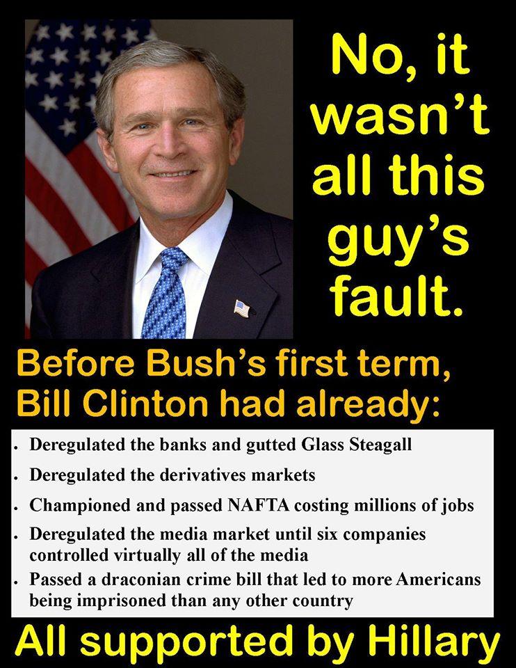 Clinton's fault