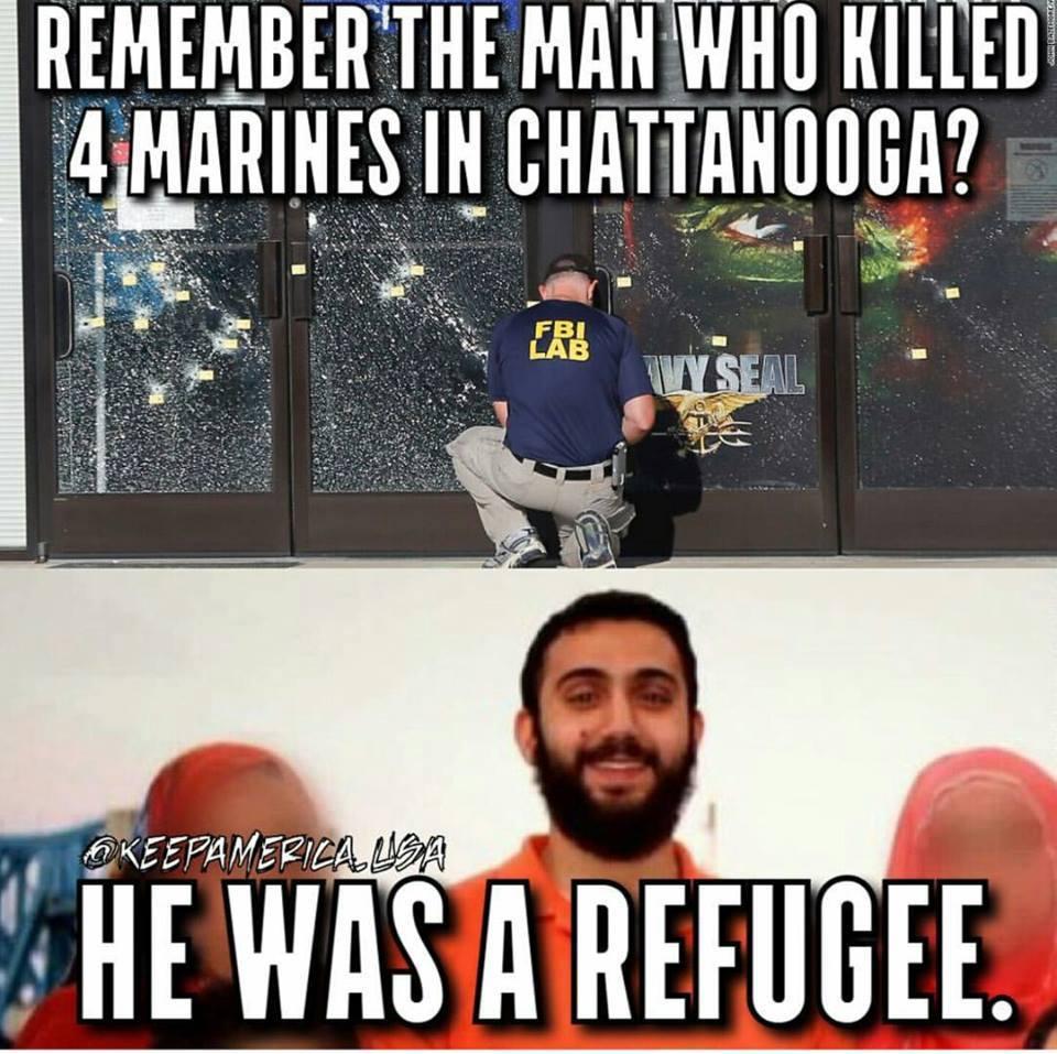 Marine shooter a refugee
