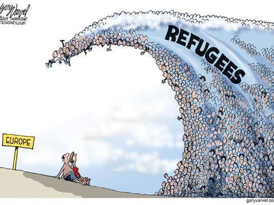 Wave of refugees in Europe