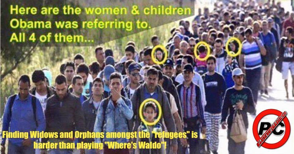 Widows and orphans amongst refugees