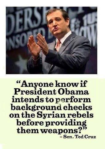 Cruz Background checks to Syrians before giving them weapons