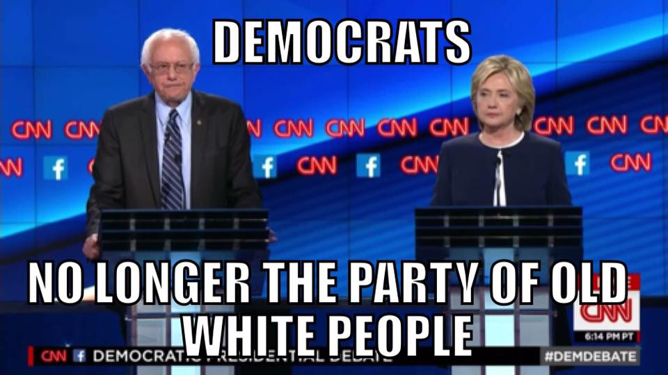 Democrats party of old white people