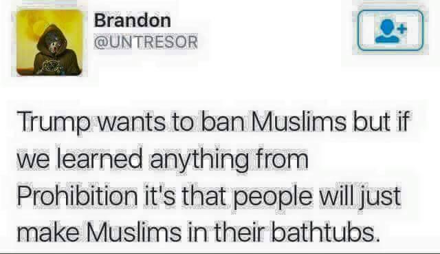 Muslims ban prohibition bathrubs