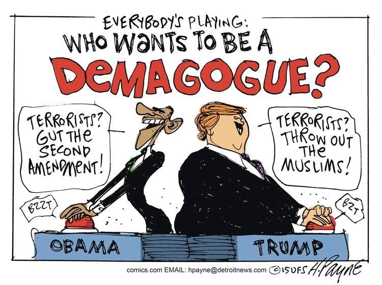 Obama Trump demagogues
