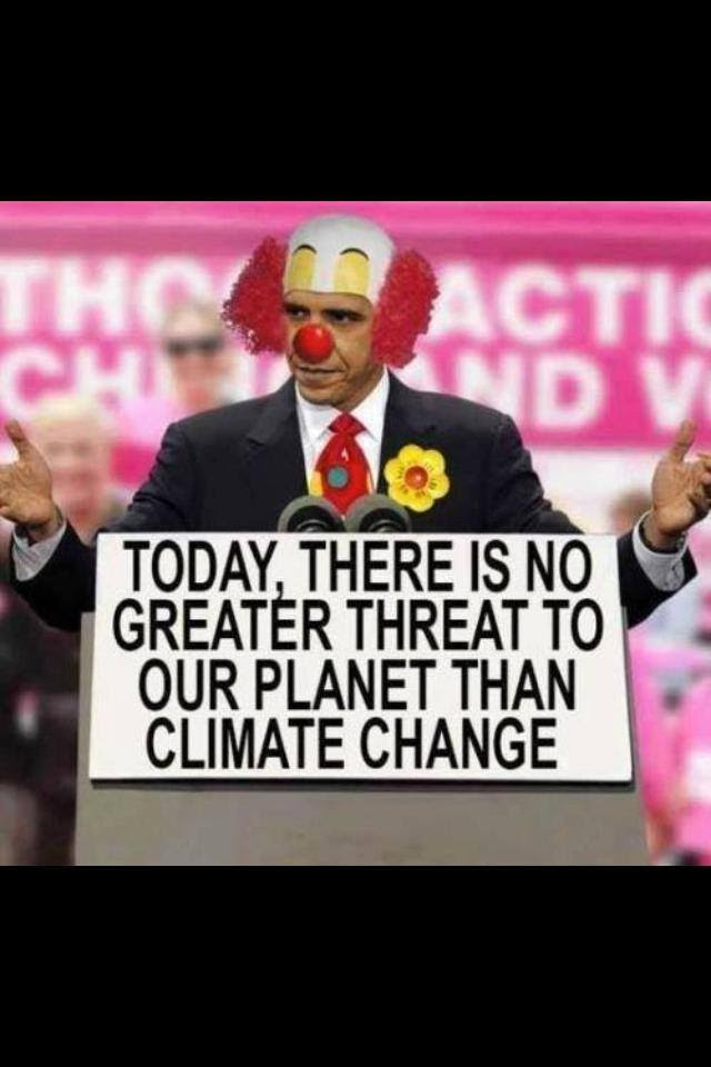 Obama the clown on climate change