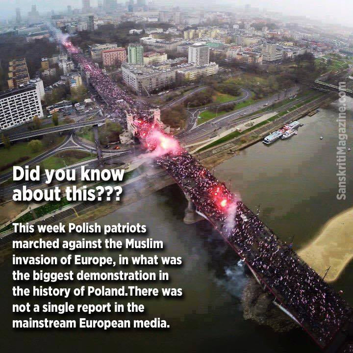 Poles marching against Muslim invasion