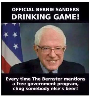 Bernie Sanders drinking game