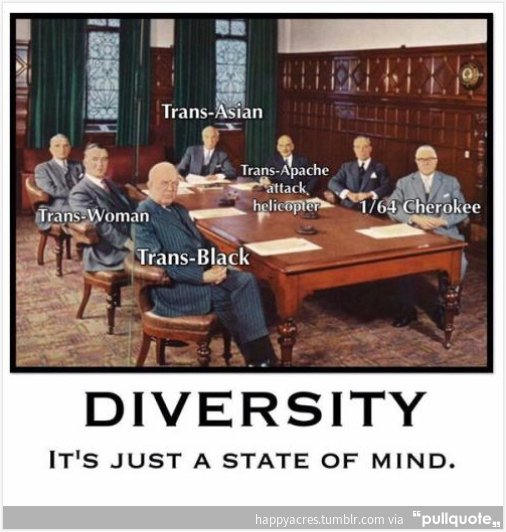 Diversity is a state of mind