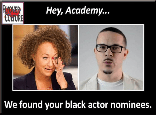 Fake blacks for Oscars