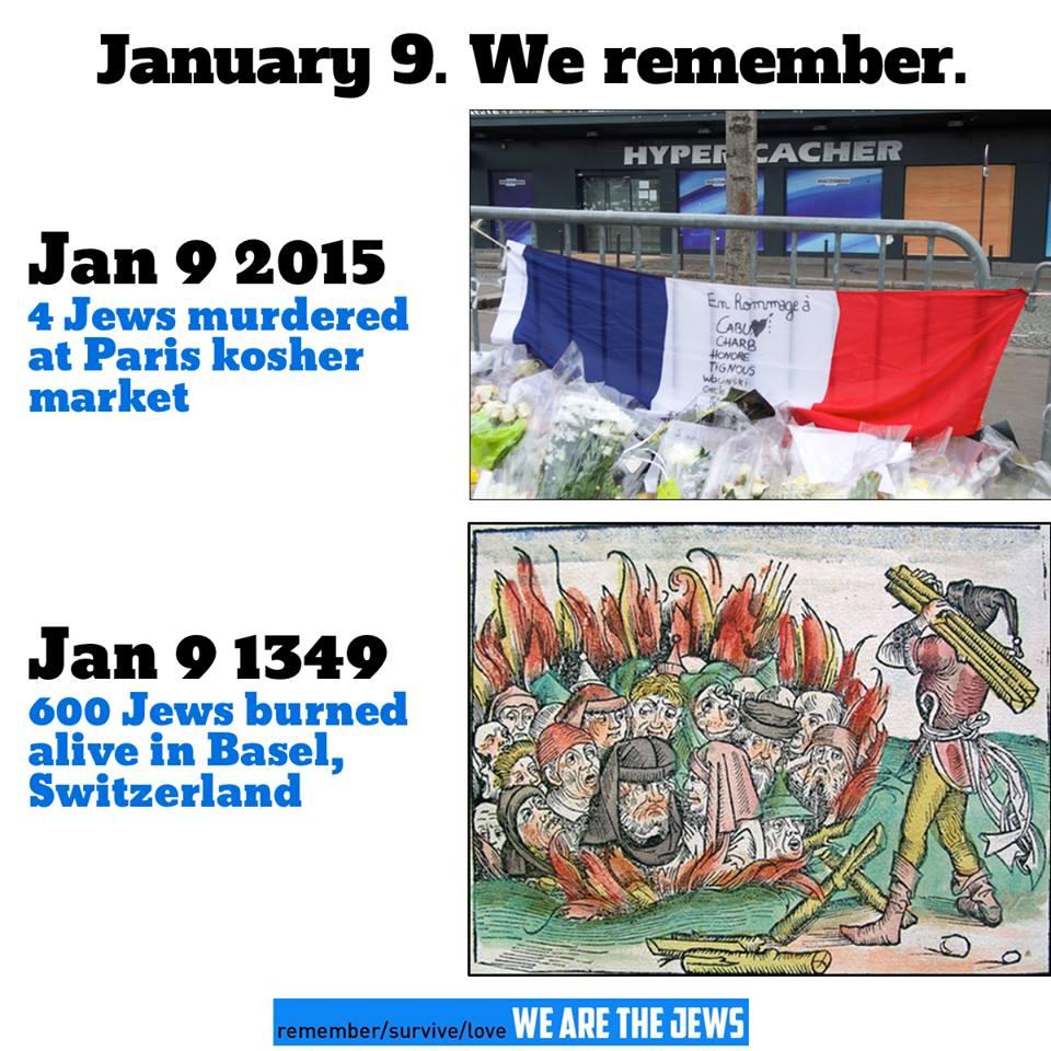 January 9 Jews killed Paris Basel