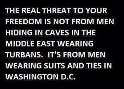 Real threat to Americans comes from DC