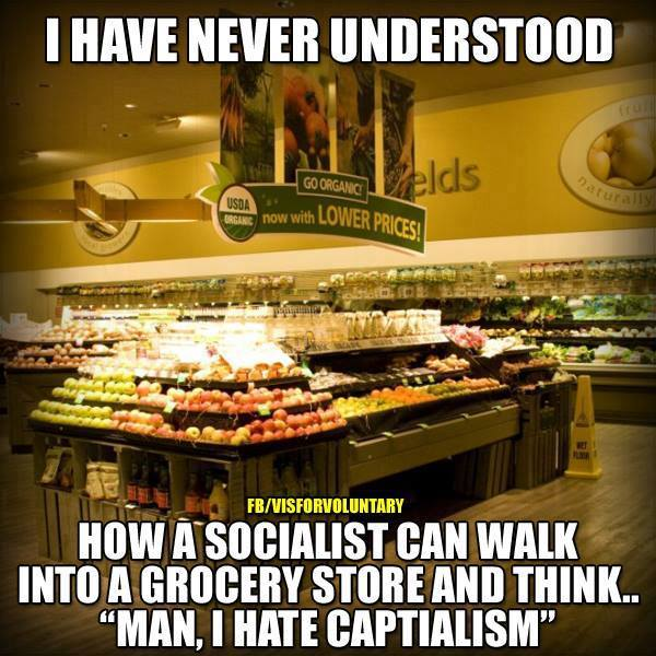 Socialists hate well-stocked grocery stores