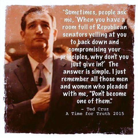 Cruz stayed true to conservativism in the Senate