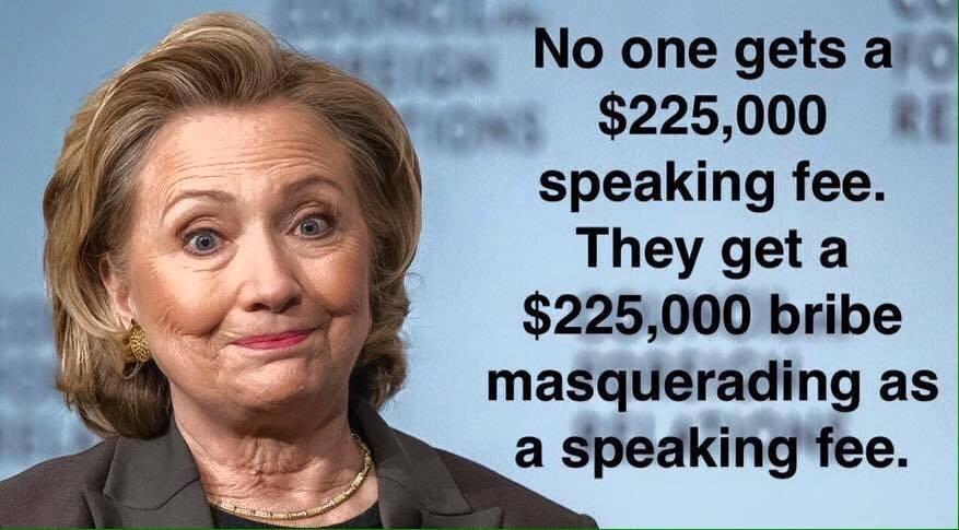 Hillary's 225,000 bribe