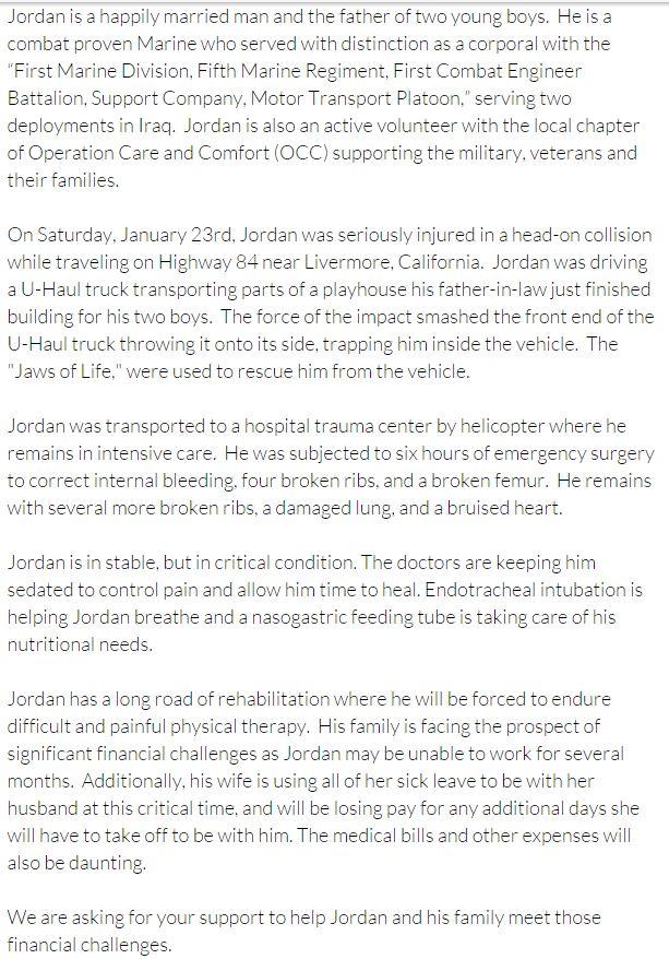 Jordan GoFundMe Info